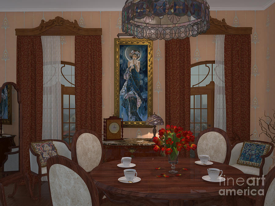 Interior Digital Art - My Art In The Interior Decoration - Elena Yakubovich by Elena Yakubovich