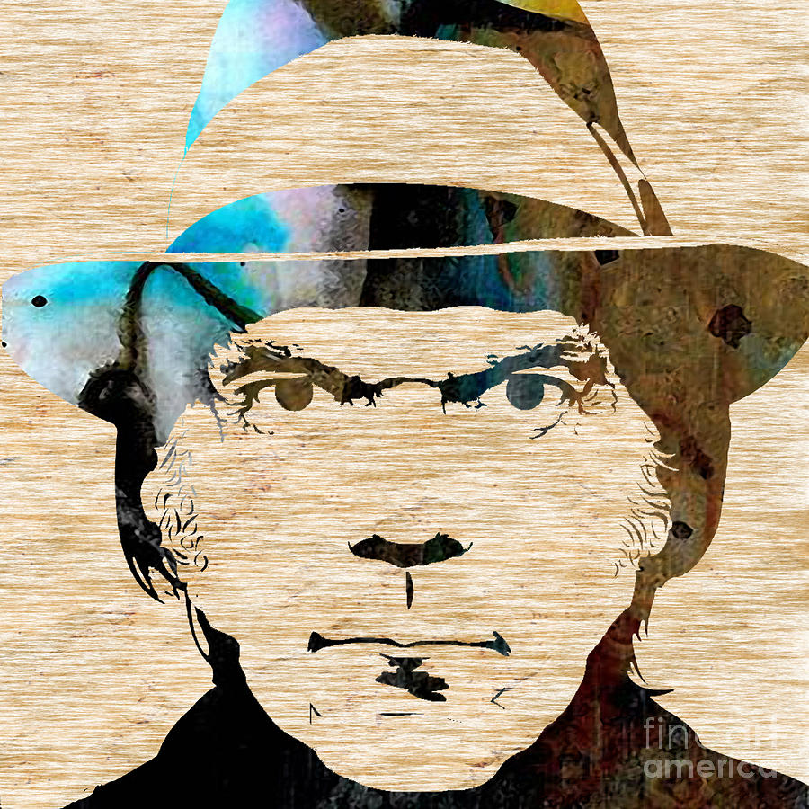 Neil Young Mixed Media by Marvin Blaine