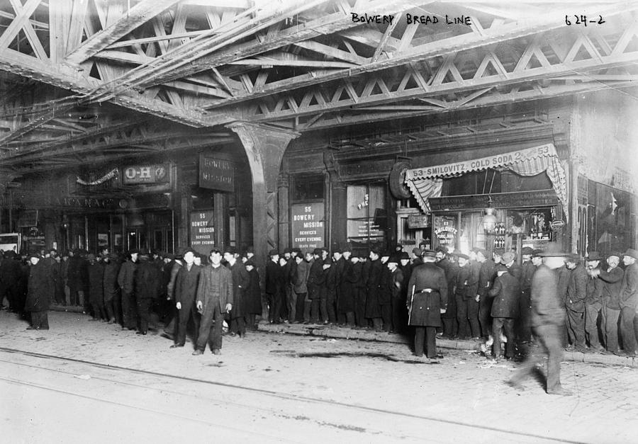 20th Century Photograph - New York City Bread Line by Granger