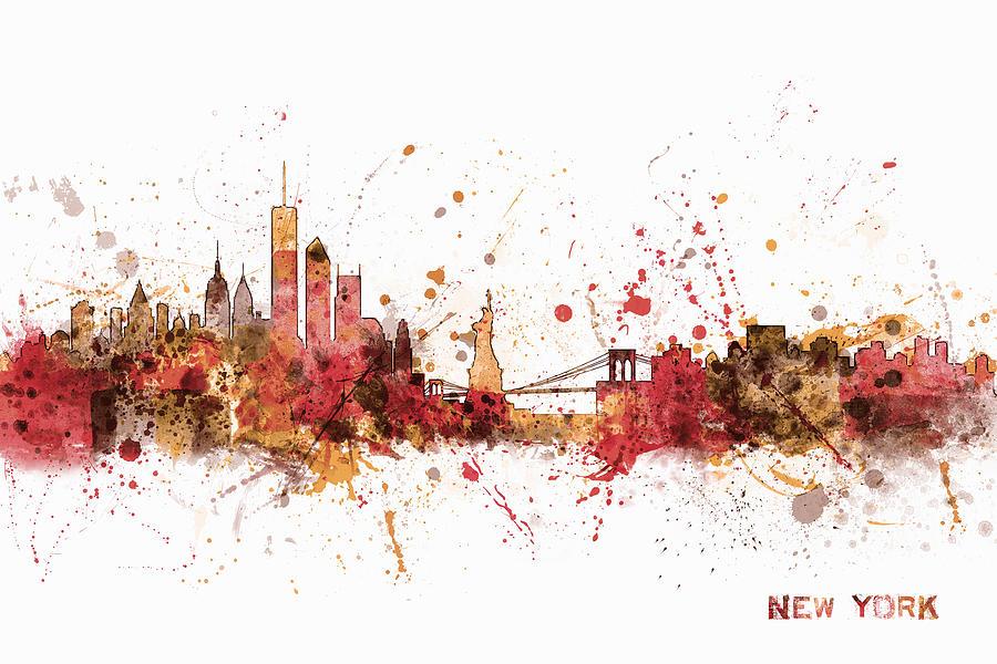 United States Digital Art - New York Skyline by Michael Tompsett