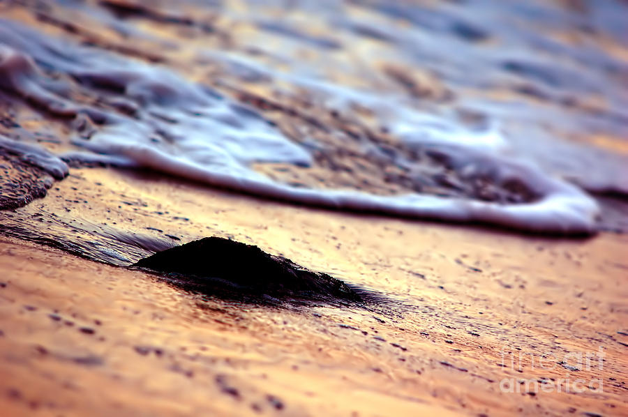 Background Photograph - Ocean In Sunshine by Michal Bednarek