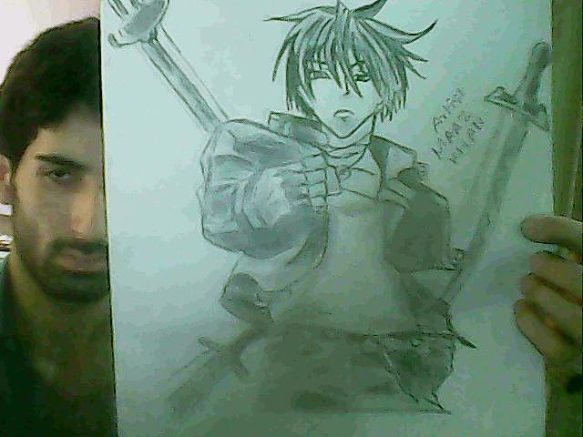 Anime Drawing - 3 Of 10 by Maaz Ali Nizamani