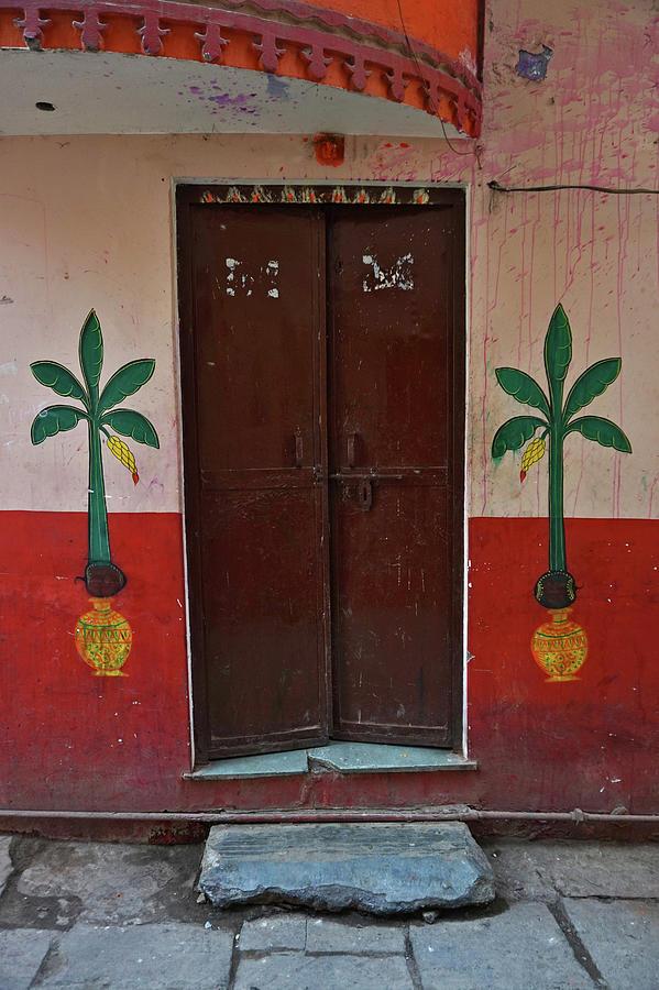 Old Doors India, Varanasi Photograph by Stereostok