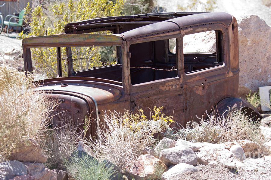old junk car in the nevada desert in Nelson Eldorado Canyon ...