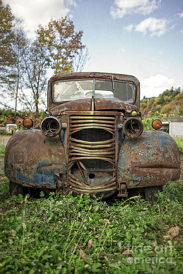 Chevy Photograph - Old Junker Car by Edward Fielding