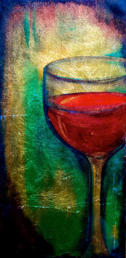 Wine Painting - One More Glass by Debi Starr