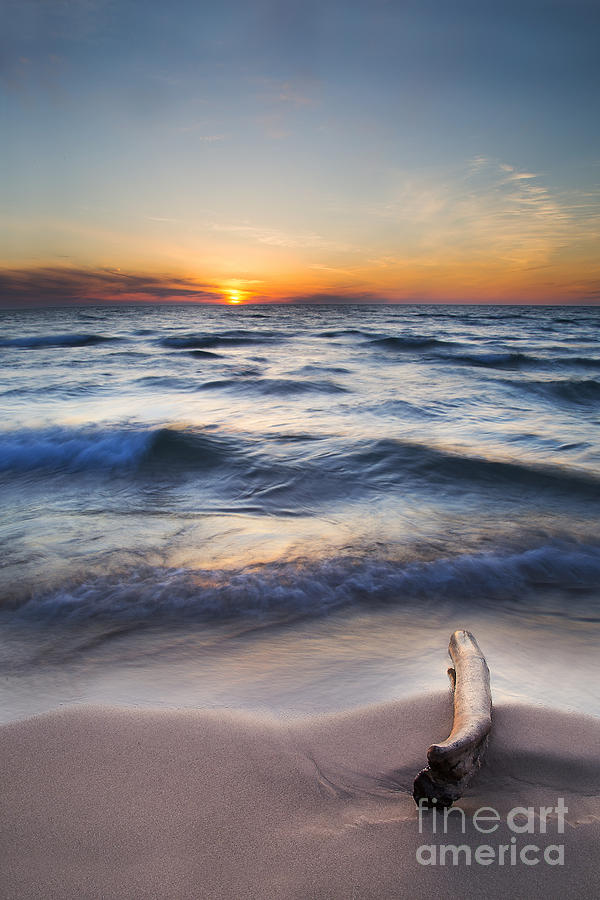 Lake Michigan Photograph - Onekama Sunset by Twenty Two North Photography