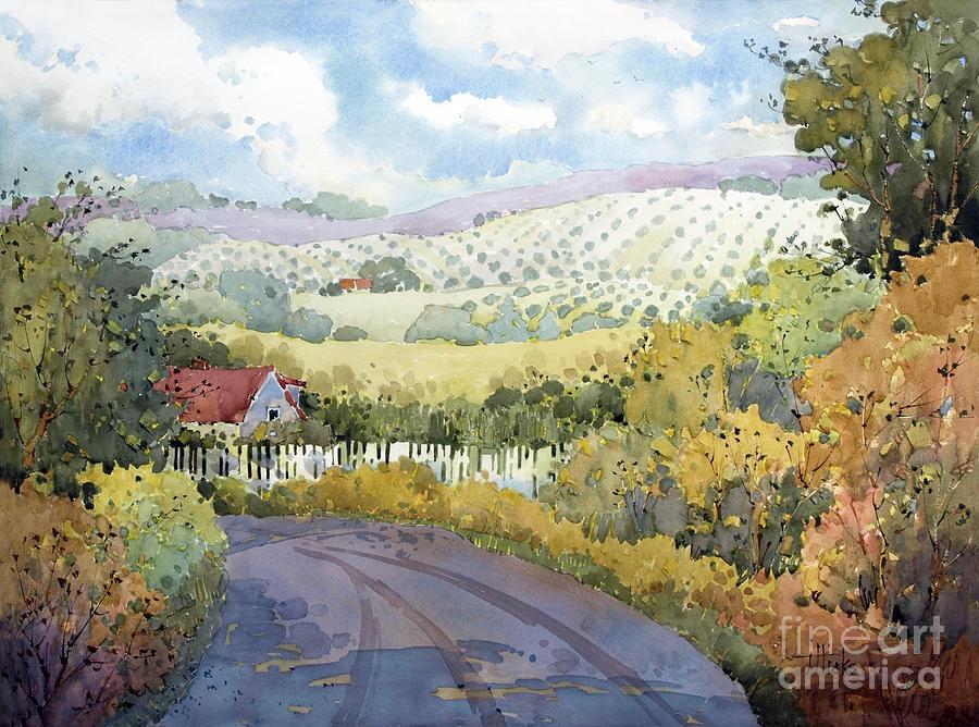 Vineyard Painting - Out Santa Rosa Creek Road by Joyce Hicks