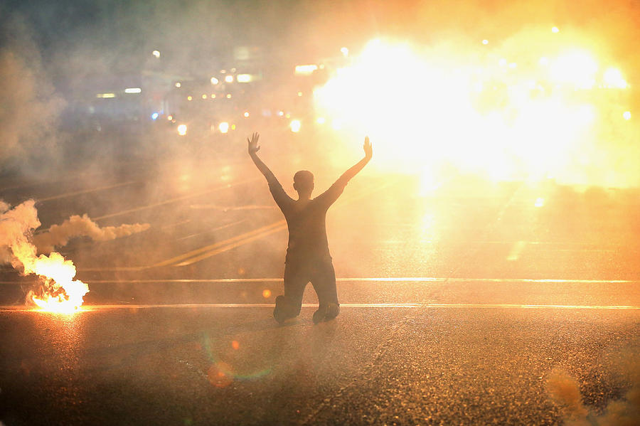 Outrage In Missouri Town After Police Shooting Of 18-Yr-Old Man Photograph by Scott Olson