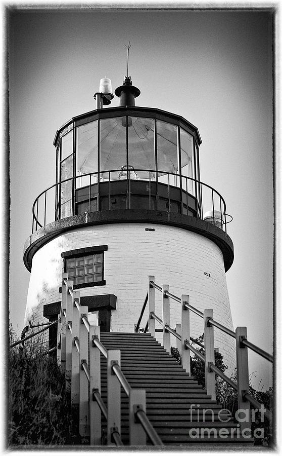 Lighthouse Photograph - Owls Head Lighthouse by Meagan Charest