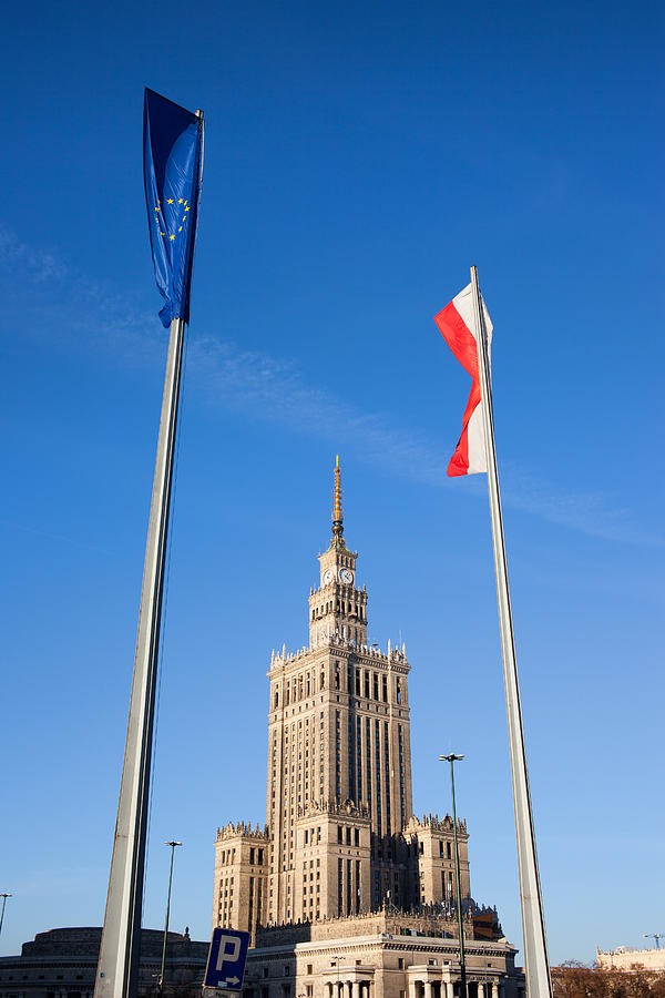 Warsaw Photograph - Palace Of Culture And Science In Warsaw by Artur Bogacki