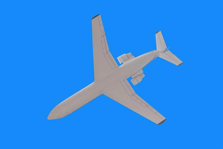Airplane Photograph - Passenger Airplane. by Alexandr  Malyshev