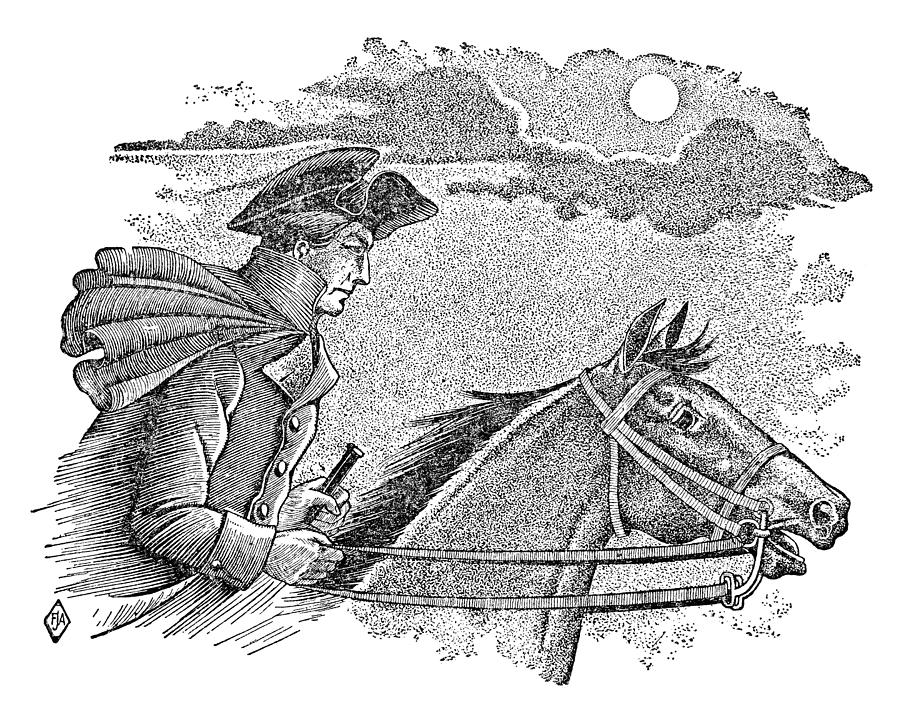 1775 Photograph - Paul Reveres Ride by Granger