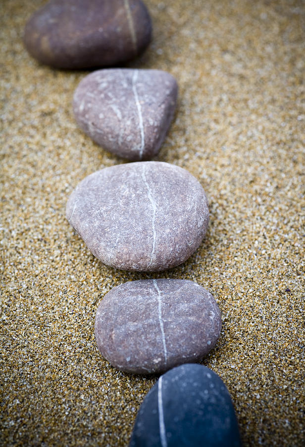 Zen Photograph - Pebbles by Frank Tschakert