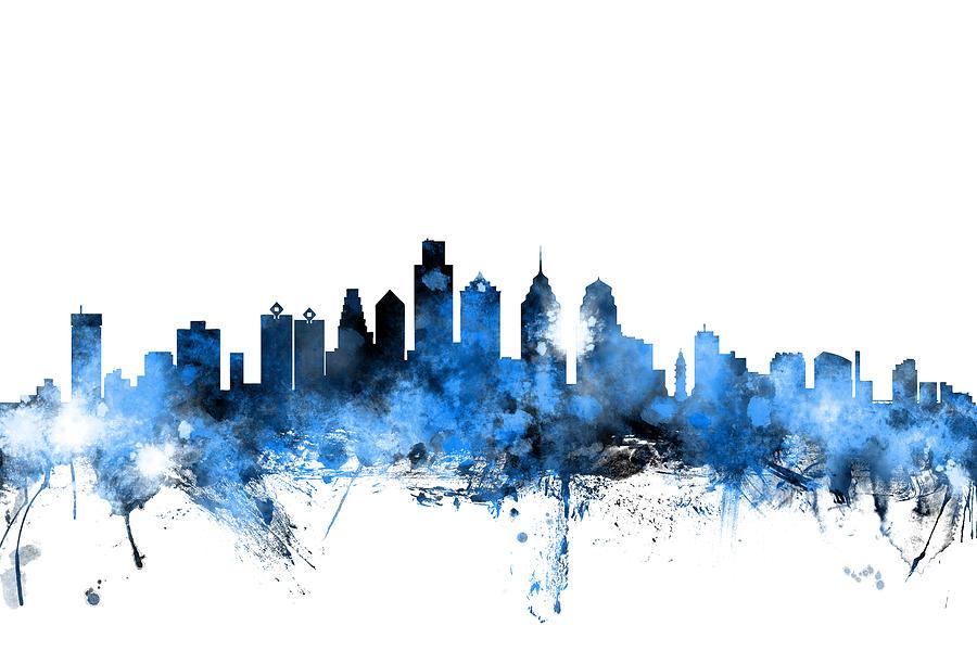 Philadelphia Pennsylvania Skyline Digital Art By Michael