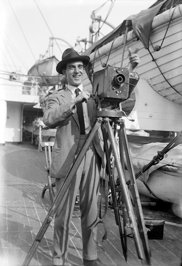 20th Century Photograph - Photographer And Camera by Granger