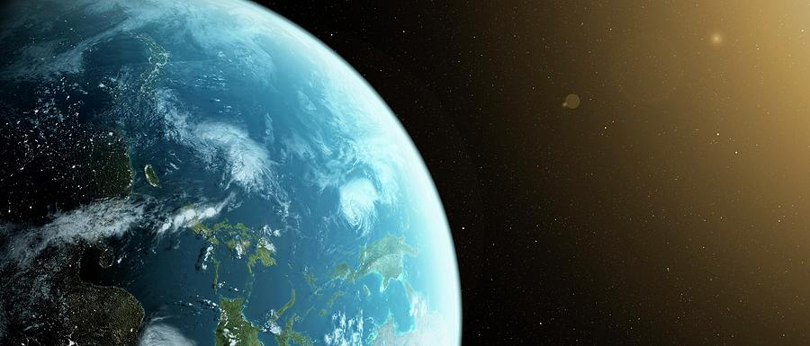Artwork Photograph - Planet Earth by Sciepro
