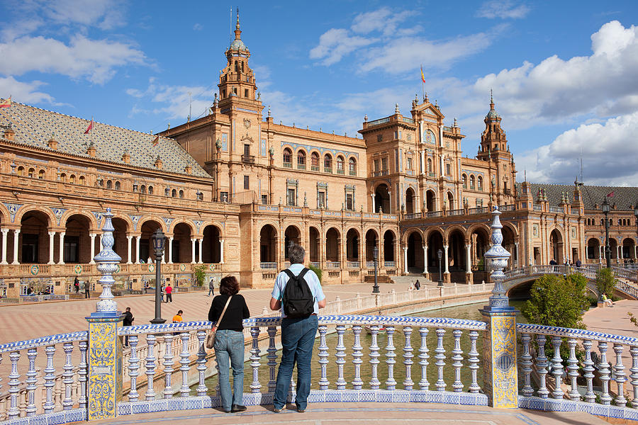 Andalucia Photograph - Plaza De Espana Pavilion In Seville by Artur Bogacki