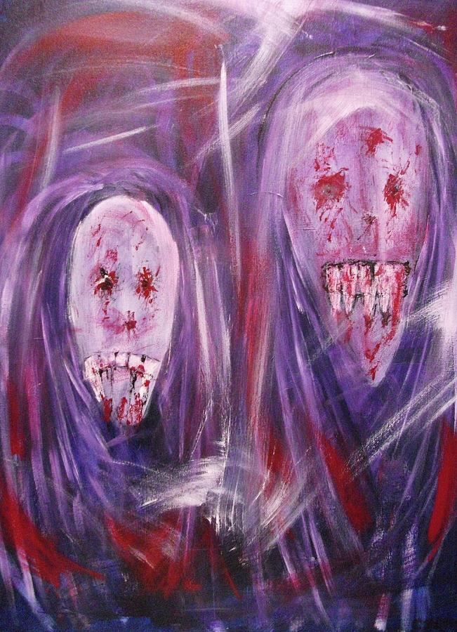 Ghosts Painting - Portrait Of A Vampire by Randall Ciotti