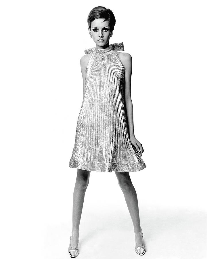 Portrait Of Twiggy Photograph by Bert Stern