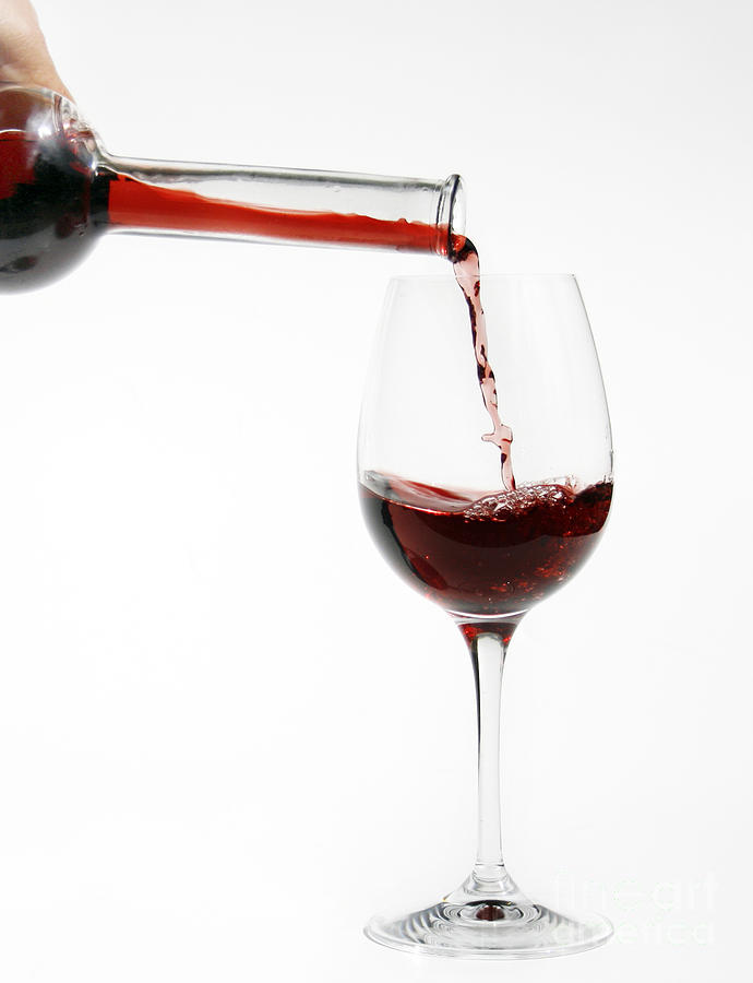 Alcohol Photograph - Pouring Red Wine Into Glass by Patricia Hofmeester