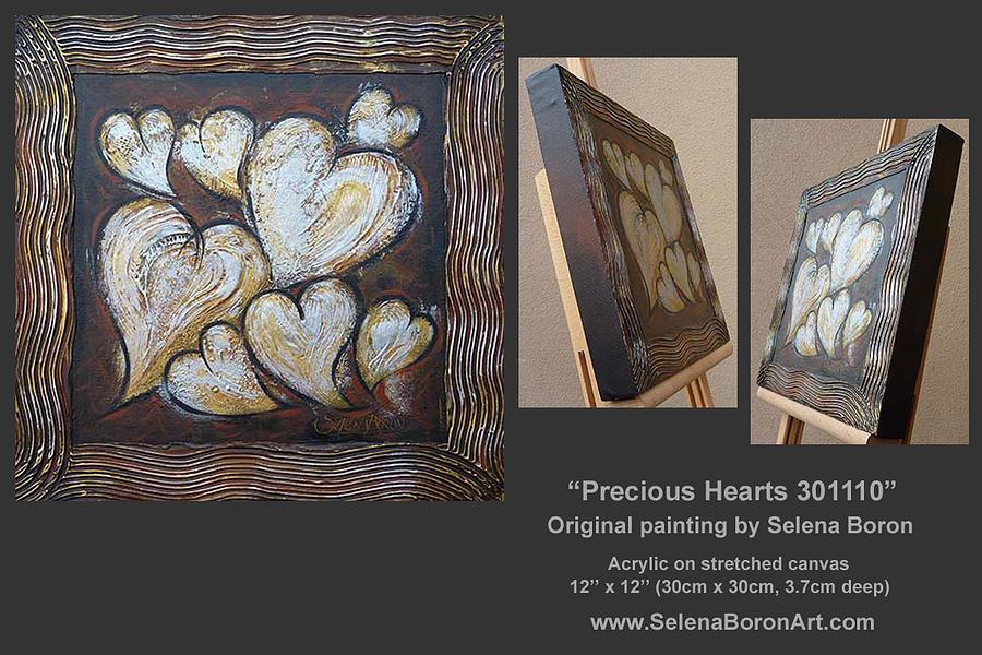 Heart Painting - Precious Hearts 301110 by Selena Boron
