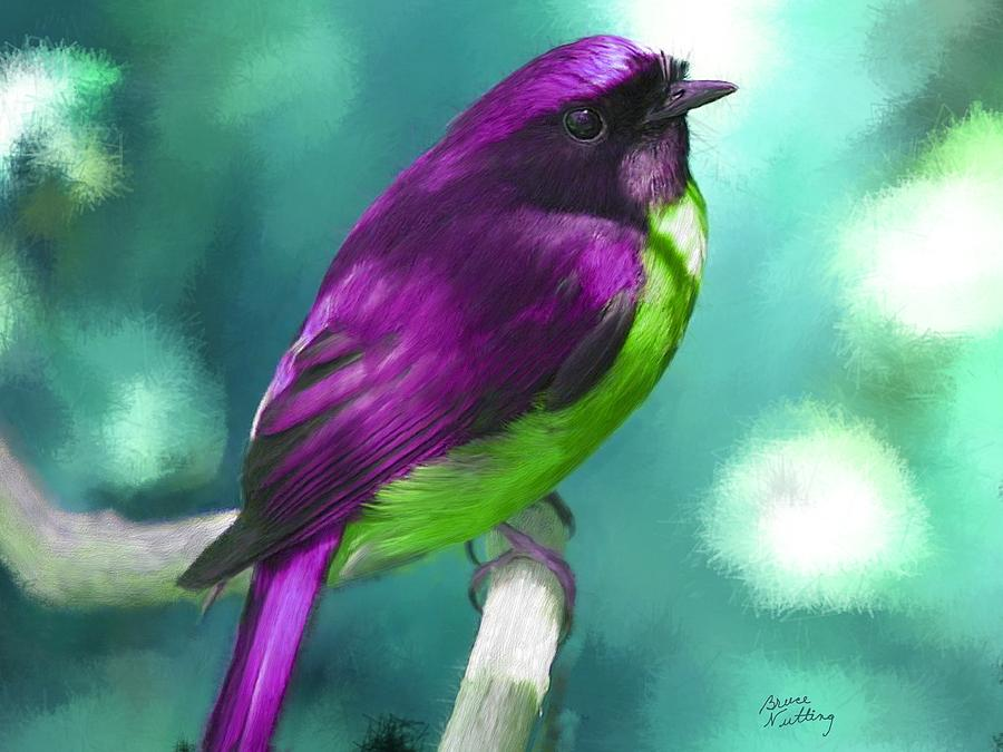 Pretty Bird Painting By Bruce Nutting