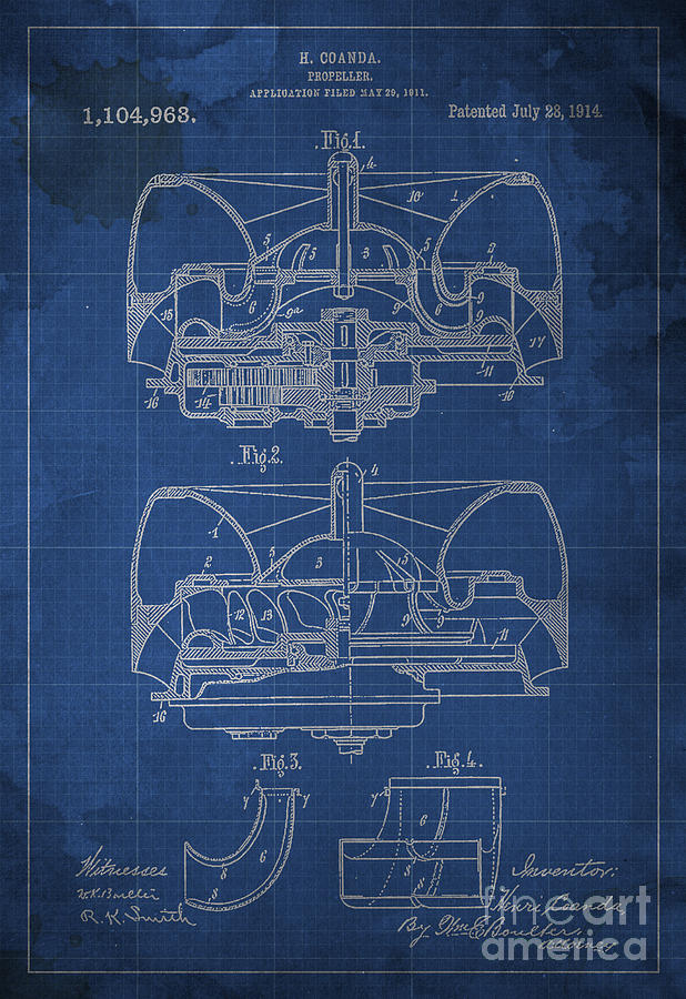 Propeller patent 1914 blueprint drawing by pablo franchi propeller drawing propeller patent 1914 blueprint by pablo franchi malvernweather Choice Image
