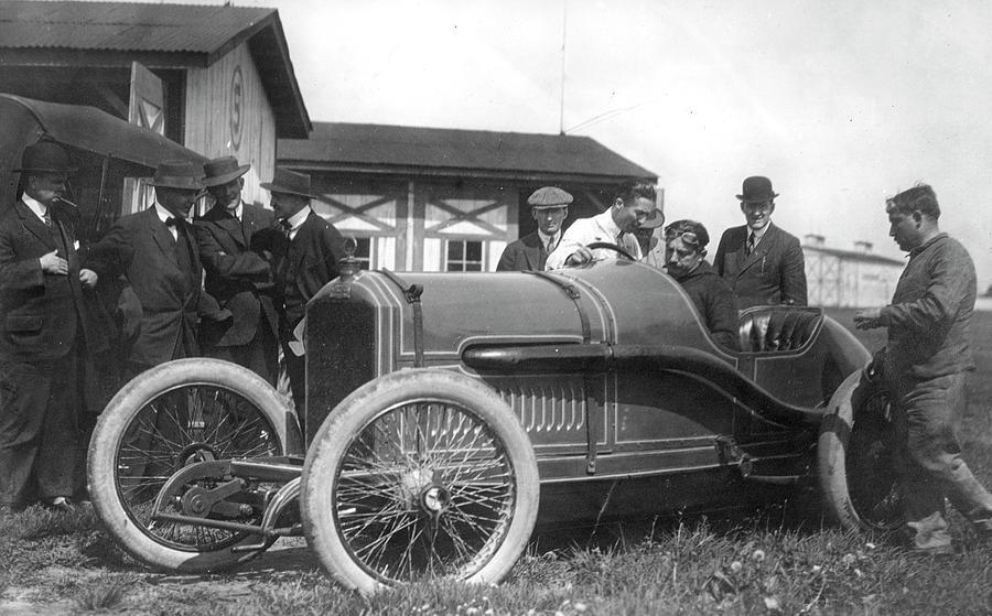 1914 Photograph - Race Car, 1914 by Granger