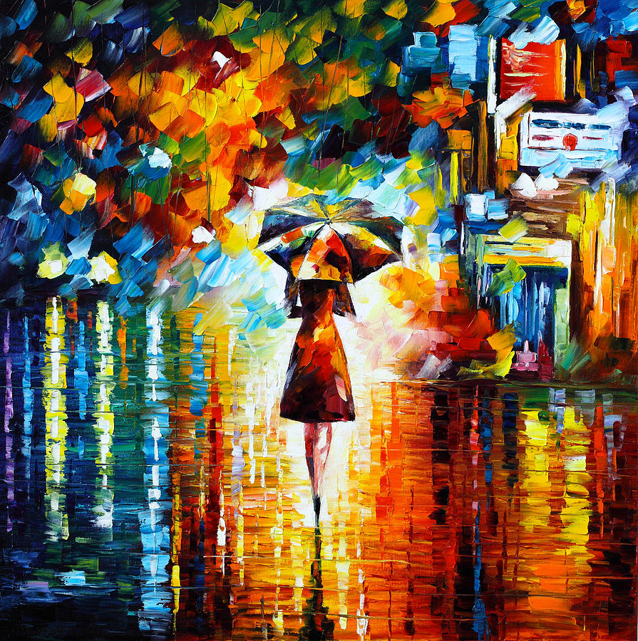 Rain Princess Painting By Leonid Afremov