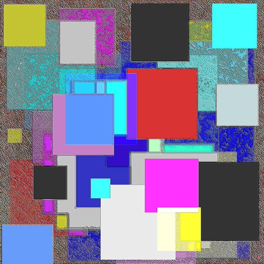 Abstract Pastel - Rectangular by George Curington