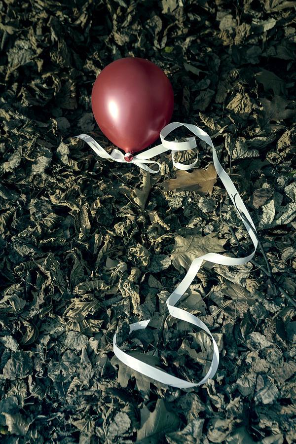 Balloon Photograph - Red Balloon by Joana Kruse