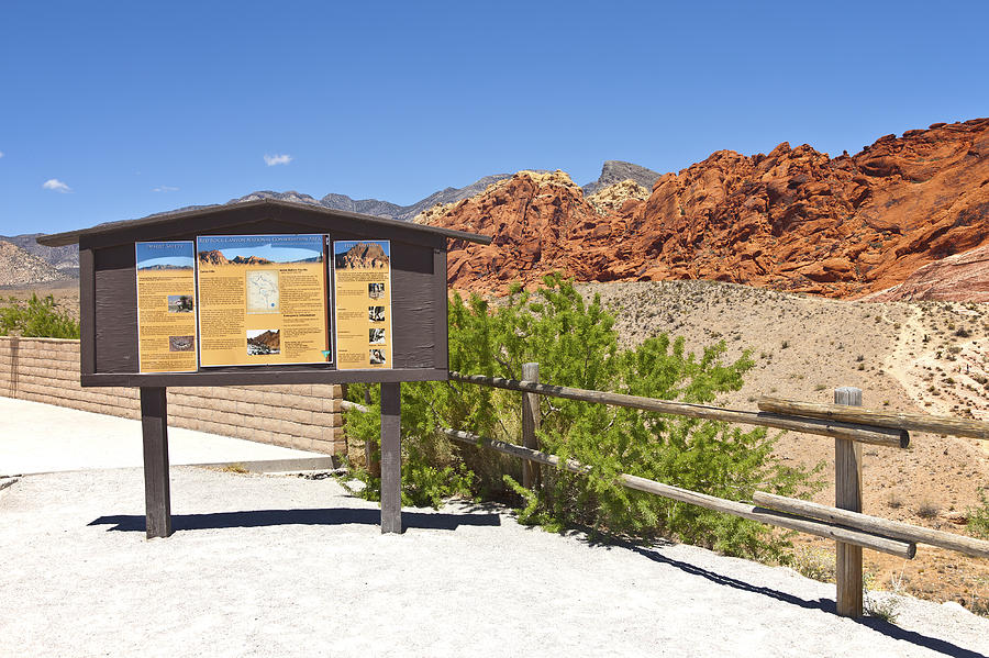 Red Rock Photograph - Red Rock Canyon Nevada. by Gino Rigucci