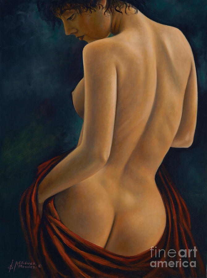 Red-silk Painting - Red Silk by Ricardo Chavez-Mendez
