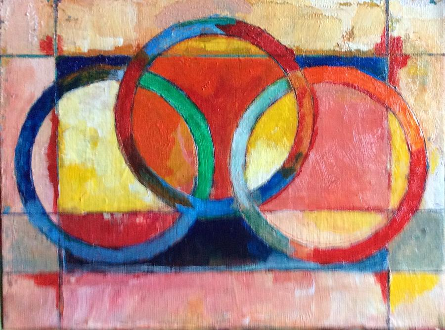 Abstract Painting - 3 Rings II by Mark Opdahl