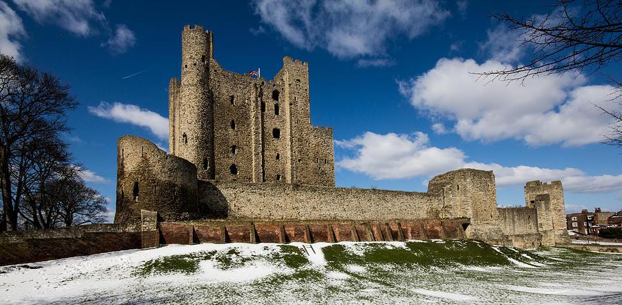 Rochester Castle Photograph - Rochester Castle by Dawn OConnor