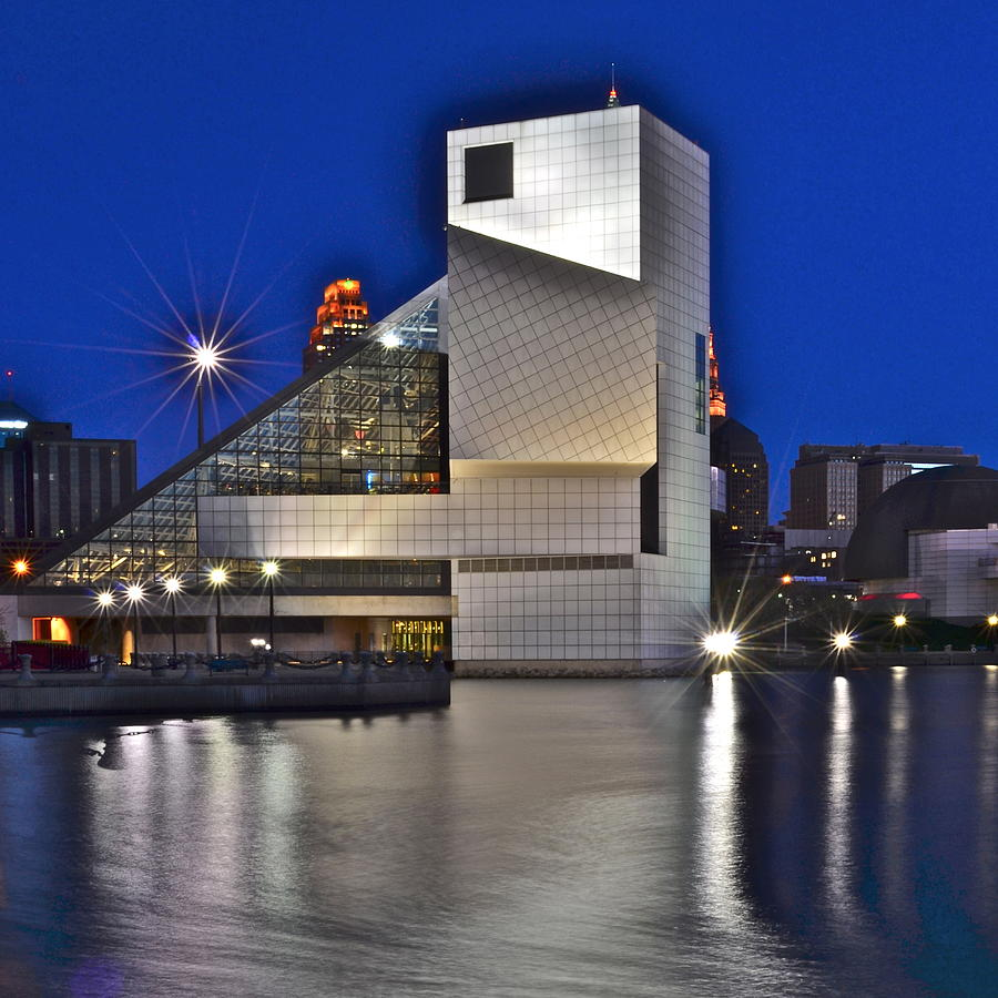 Rock Photograph - Rock And Roll Hall Of Fame by Frozen in Time Fine Art Photography