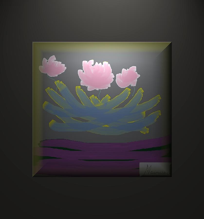 Digital Paint Digital Art - 3 Roses by Ines Garay-Colomba