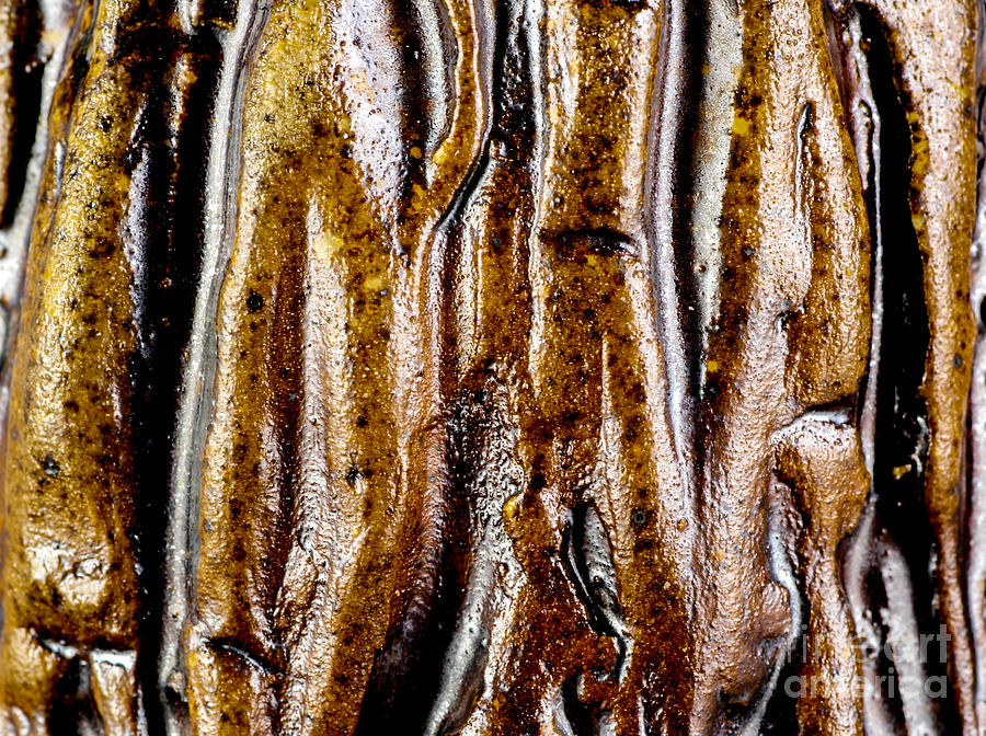 Ceramics Relief - Rough Abstract Ceramic Surface by Kerstin Ivarsson
