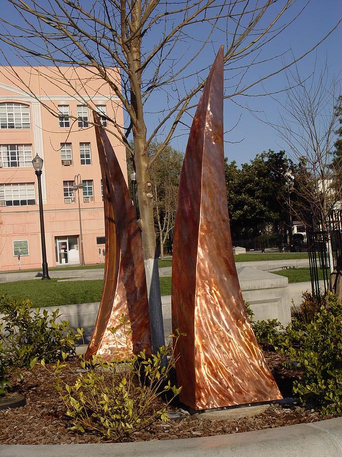 Copper Sculpture - Rustic Embrace  by Peter Piatt