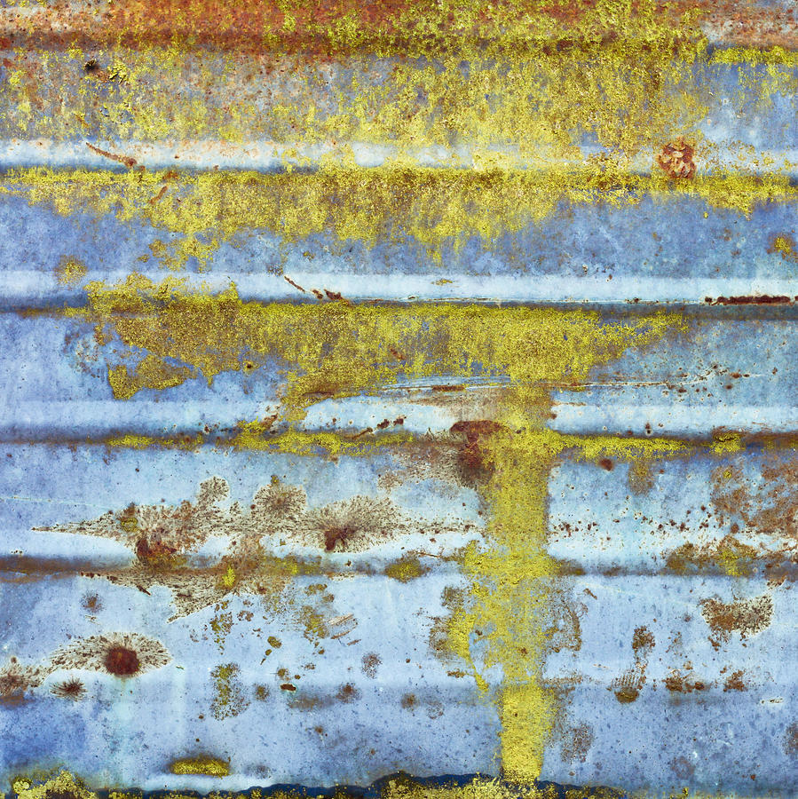 Aluminum Photograph - Rusty Metal by Tom Gowanlock