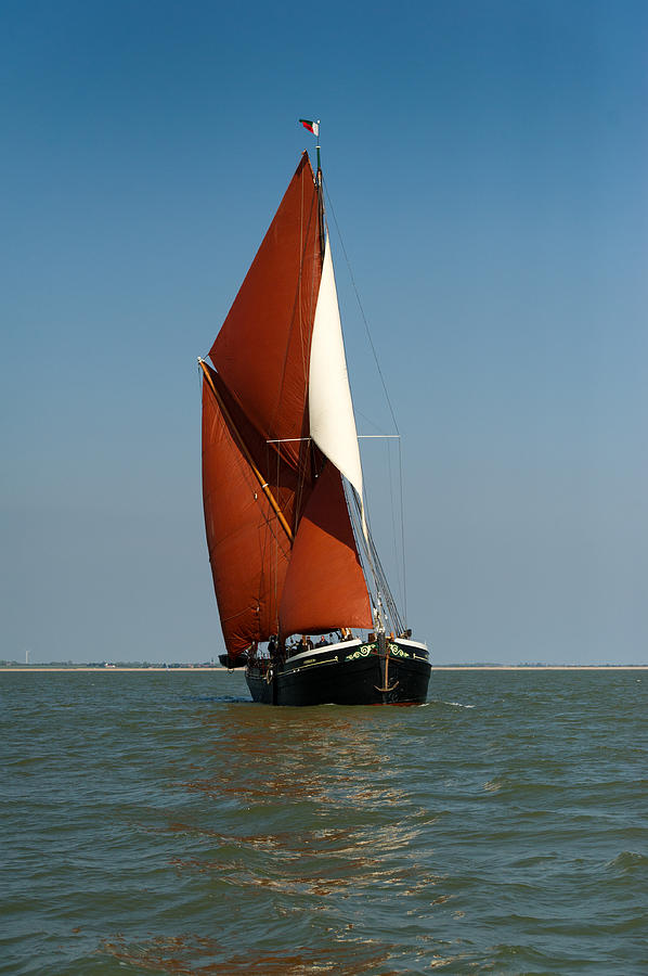 Thames Barge Photograph - Sailing Barge by Gary Eason