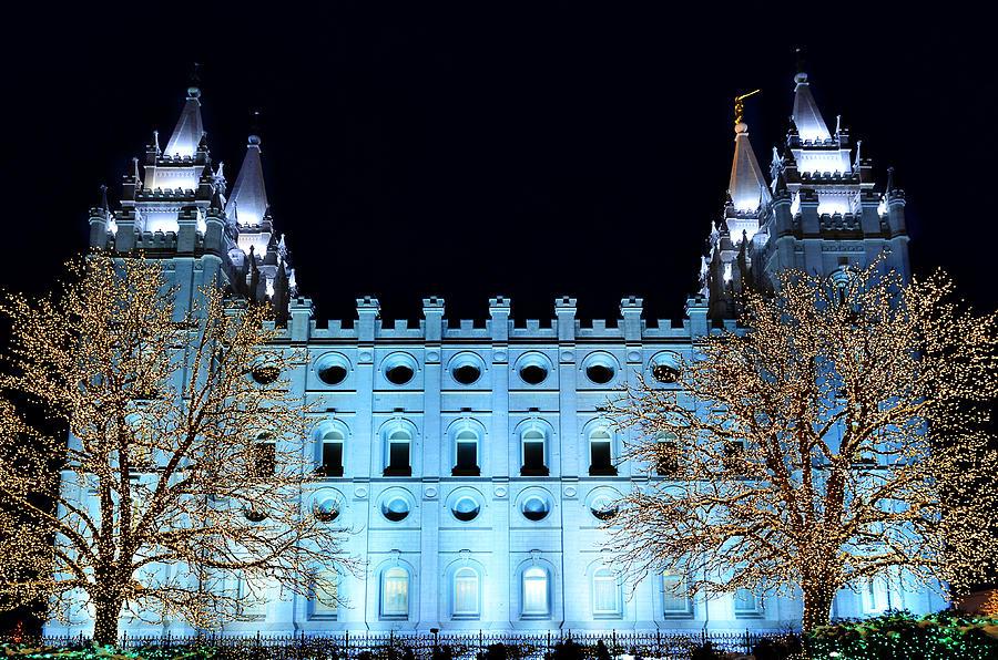 Temple Square Salt Lake City Christmas Lights.Salt Lake City Temple Square Christmas Lights By Lane Erickson