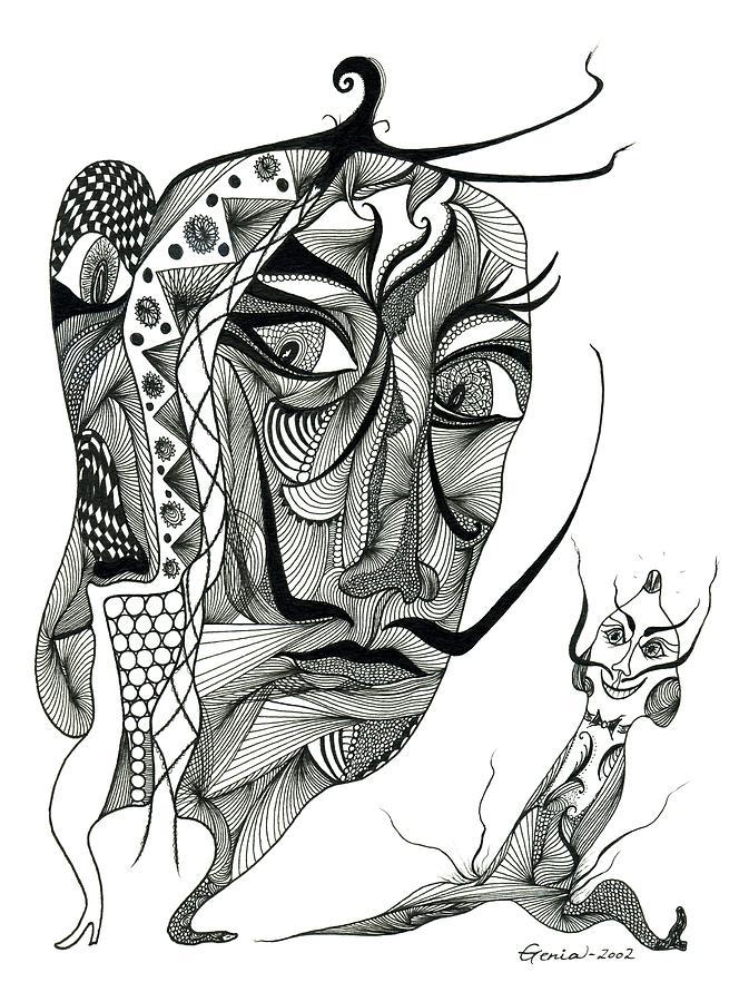 Salvador Dali With His Alter-ego