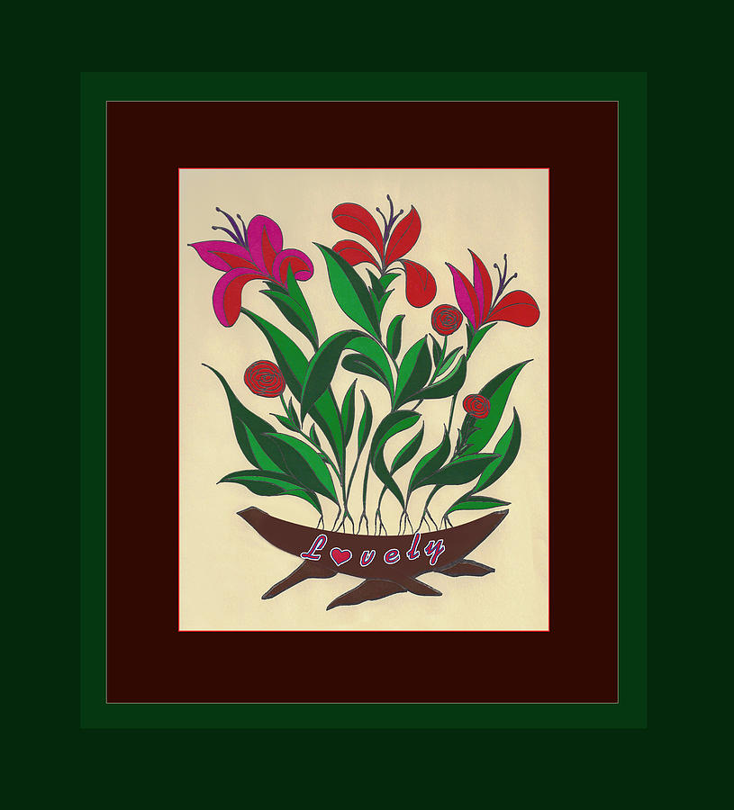 Flowers Painting - Sample 1 by Joe Greenidge