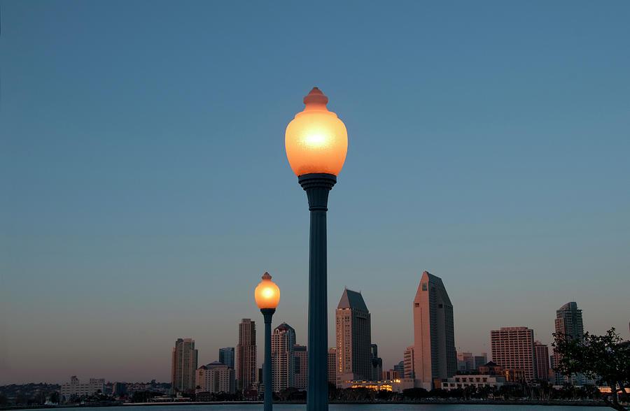 San Diego Skyline Photograph by Mitch Diamond