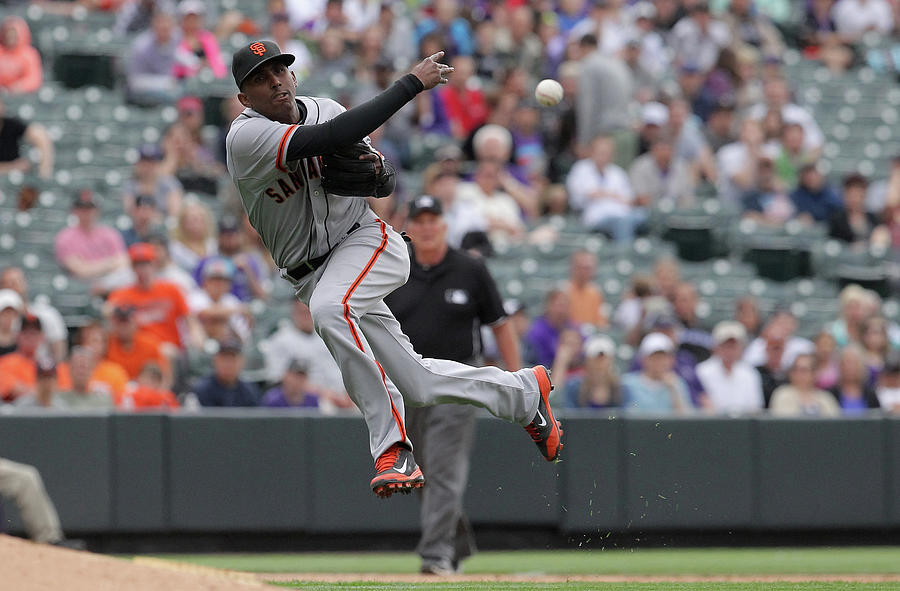 San Francisco Giants V Colorado Rockies Photograph by Doug Pensinger