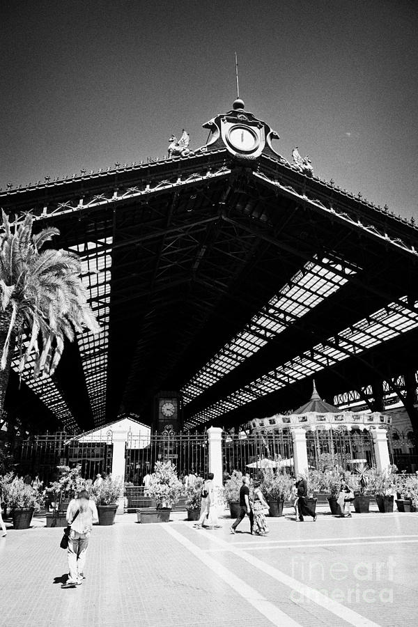 Santiago Photograph - Santiago Central Railway Station Chile by Joe Fox