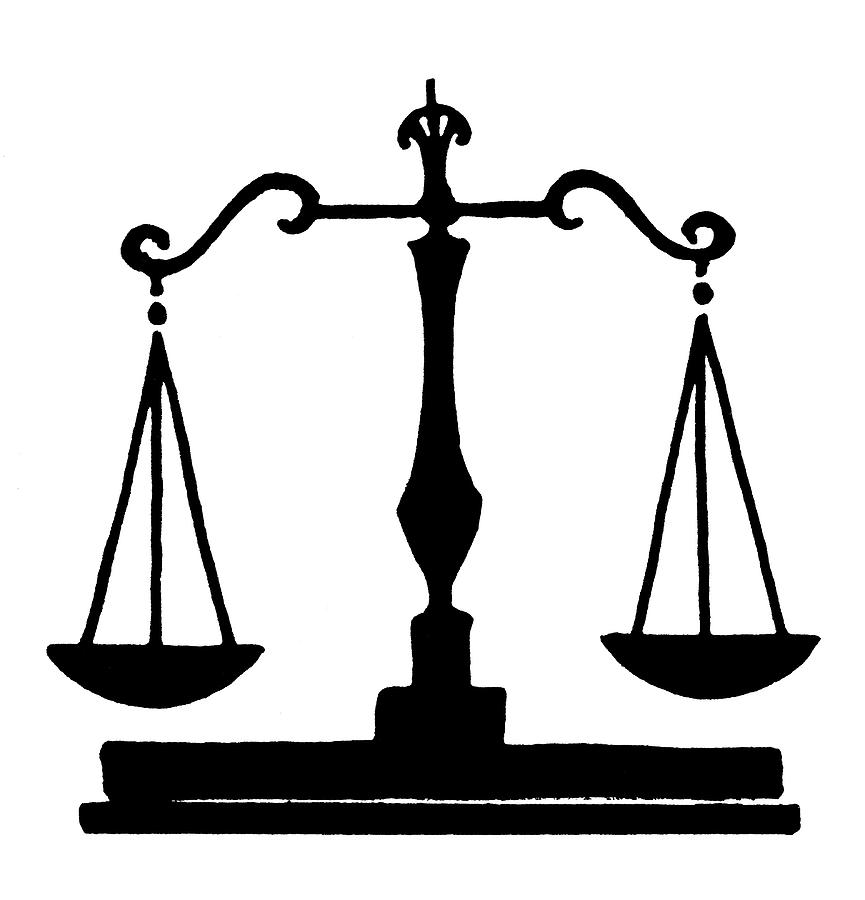 19th Century Painting - Scales Of Justice by Granger