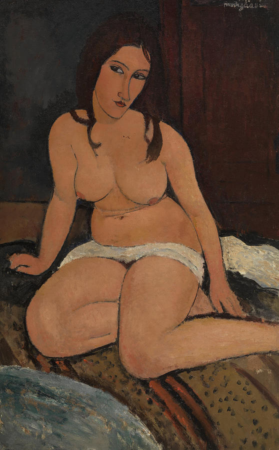 Seated Nude Painting - Seated Nude by Amedeo Modigliani